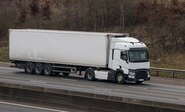 Road transport - white lorry Royalty Free Stock Photos