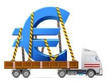 Road transportation of euro symbol Stock Image