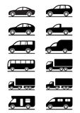 Road transportation icons set Stock Photos