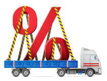 Road transportation of percentage symbol Stock Photo
