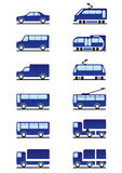 Road transportations icons set Royalty Free Stock Images