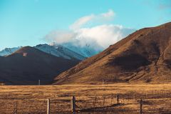 New Zealand Road landscape Stock Photography