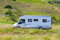 road travel van white Στοκ εικόνες με δικαίωμα ελεύθερης χρήσης