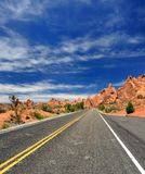 The Road Less Traveled. Desolate Road in Western United States Royalty Free Stock Photo