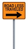 Road Less Traveled. Conceptual road sign indicating Road Less Traveled Royalty Free Stock Photography