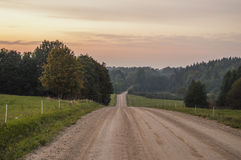 Road. Traveling in South-Estonia, lots of hills Stock Photo