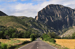 Road trhough montain Royalty Free Stock Image