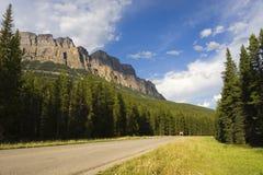 Road trip. Mountain road scene stock image