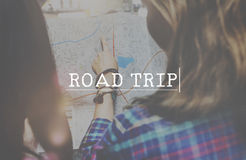 Road Trip Adventure Destination Journey Pursuit Concept.  Royalty Free Stock Photos