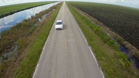 Road Trip aerial footage Royalty Free Stock Photography
