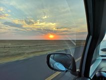 Road trip in beautiful format royalty free stock photography