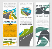 Road trip and car journey banner template design Stock Photo