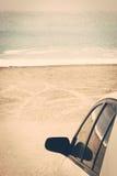 Road trip car sea beach Stock Photo