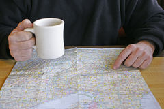 Road trip coffee break Stock Image