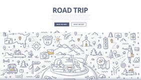 Road Trip Doodle Concept royalty free stock photos