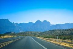 Road trip through desert, Las Vegas, Nevada Stock Photos
