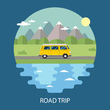 Road trip flat design Royalty Free Stock Photos