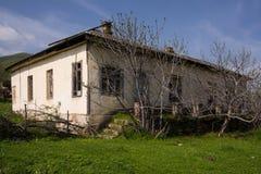 Old abandoned village house stock photography
