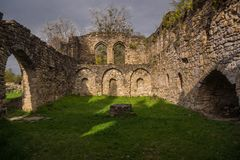 Ruin of old orthodoy chapel royalty free stock photo