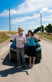 Road Trip - We go here royalty free stock images