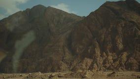 Road trip by highway in desert. Adventure Travel in a desert road in Egypt, full hd