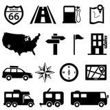 Road trip icon set Royalty Free Stock Photo