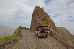 Road trip on island of Santo Antao, Cape Verde Royalty Free Stock Photo