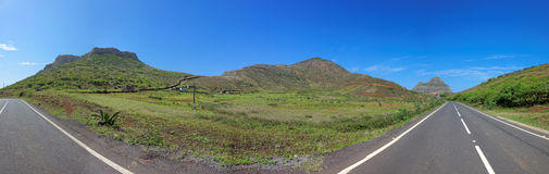 Road trip on island of Sao Nicolau, Cape Verde Stock Images