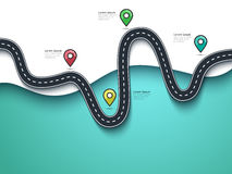 Road trip and Journey route background Stock Photo