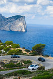 Road trip through mallorca. With amazing view to the cap formentor Stock Image