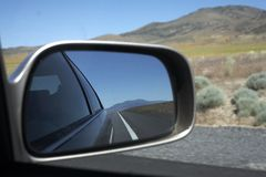 Road Trip Mirror Royalty Free Stock Photography