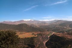 The High Atlas Mountains, Morocco royalty free stock photo