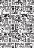 Road trip music tour pattern. Vector illustration of a black and white repeat pattern Royalty Free Stock Photography