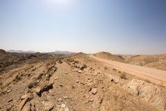 Road trip in the Namib desert, Namib Naukluft National Park, travel destination in Namibia. Travel adventures in Africa. Road trip in the Namib desert, Namib Stock Photos
