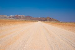 Road trip in the Namib desert, Namib Naukluft National Park, travel destination in Namibia. Travel adventures in Africa. Road trip in the Namib desert, Namib Royalty Free Stock Photos