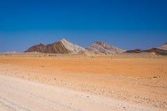 Road trip in the Namib desert, Namib Naukluft National Park, travel destination in Namibia. Travel adventures in Africa. Road trip in the Namib desert, Namib Stock Photography