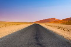 Road trip in the Namib desert, Namib Naukluft National Park, travel destination in Namibia. Travel adventures in Africa. Road trip in the Namib desert, Namib Royalty Free Stock Image