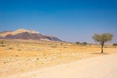 Road trip in the Namib desert, Namib Naukluft National Park, travel destination in Namibia. Travel adventures in Africa. Road trip in the Namib desert, Namib Stock Image