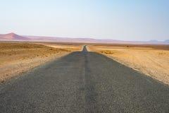 Road trip in the Namib desert, Namib Naukluft National Park, travel destination in Namibia. Travel adventures in Africa. Road trip in the Namib desert, Namib Stock Photo