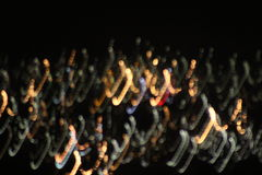 Blurred lights. On a road trip at night time and captured lights off the highway Royalty Free Stock Images