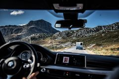 Road trip in Norway royalty free stock images