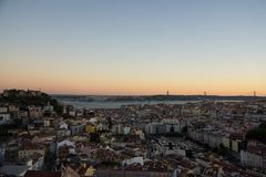 Far sight in lisbon downtown royalty free stock photos