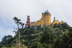 Palace de pena in sintra stock photography
