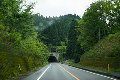 On road trip after raining through local green scenic route duri Royalty Free Stock Photography