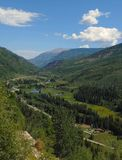 Road Trip Scenery around Aspen Carbondale Crystal and Marble for Colorado USA destinations. Summer vacation road trip through Colorado. Stop and look down the royalty free stock photos