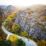 Road trip in scenic places royalty free stock photo