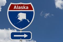 Road trip to Alaska with sky Royalty Free Stock Photography