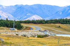 Road trip to Aoroki Mount Cook Royalty Free Stock Photo