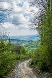 Road-trip to Carpathian Mountains. Western Ukraine. Extreme ride only for SUV`s, ATV`s and mountain bikes stock photo