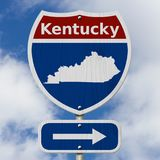 Road trip to Kentucky with sky Royalty Free Stock Images